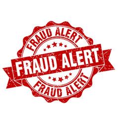 Fraud alert stamp sign seal vector