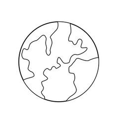 global world earth map atlas location vector image