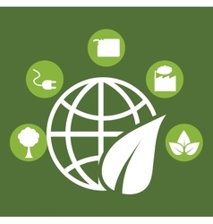 go green ecology vector image