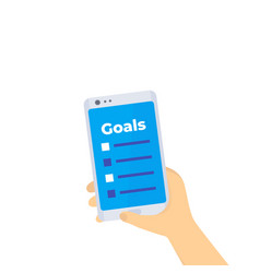 Goal setting in smartphone vector