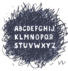 Hand drawn doodle alphabet vector image