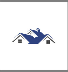 home house real estate property building logo vector image