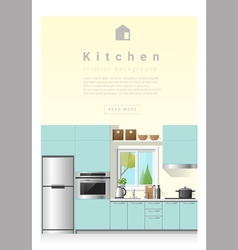 Interior design Modern kitchen banner 6 vector image