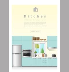 Interior design Modern kitchen banner 6 vector