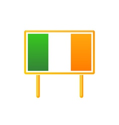 Irish Flag on Billboart vector image