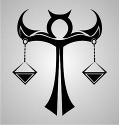 Libra Sign Tattoo Design vector image