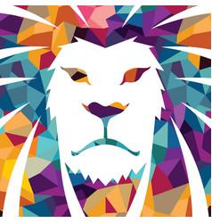 Lion head logo template creative vector