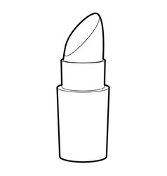 lipstick icon outline vector image