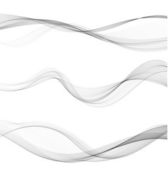 Modern futuristic soft smoke gradient flow lines vector