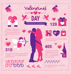 modern infographic banner for valentines day set vector image