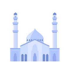Mosque building light purple color vector