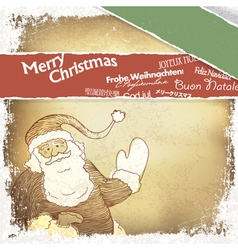 Multilingual merry christmas card vector