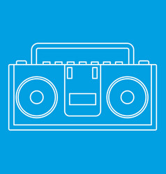 Music boombox icon outline style vector