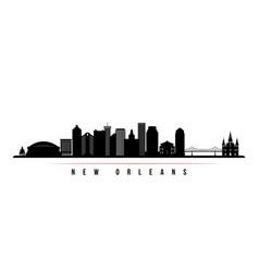 new orleans city skyline horizontal banner vector image