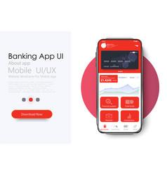 Online banking mobile apps uiuxgui set vector