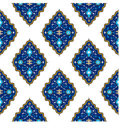 Oriental seamless pattern with arabesque vector