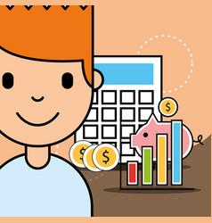 people analytics business vector image