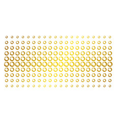 pie chart gold halftone array vector image