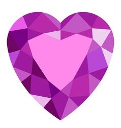 Pink gemstone heart vector