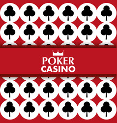 Poker casino card clover symbol poster vector