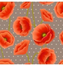 Poppy seamless wallpaper vector