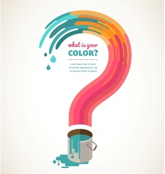 Question mark - color splash creative concept vector