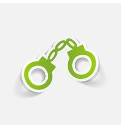 realistic design element handcuffs vector image