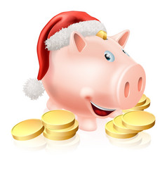 Saving for christmas concept vector