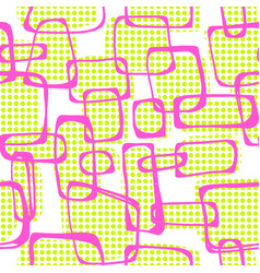 Seamless pop art 1960s ink drawn patternhand vector
