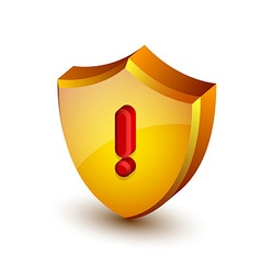 Security alert shield vector image