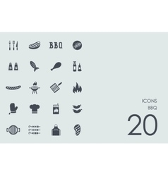 Set of BBQ icons vector image