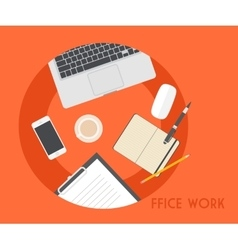 Set of Flat Business Office vector image