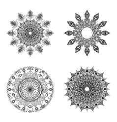 Set of mandalas Vintage decorative elements vector image