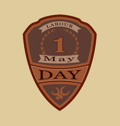 shield for labor day vector image