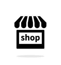 Shop icon on white background vector image