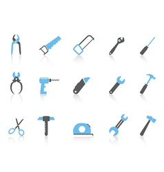 simple hand tool iconscolor series vector image