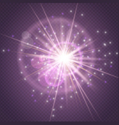 sparks glitter glowingstar burst explosion glow vector image