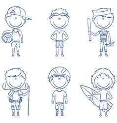 Summer boys vector image