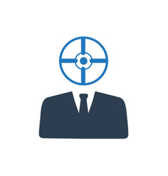 Target business icon vector