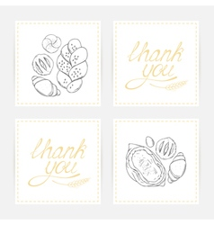Thank you cards with baking vector image