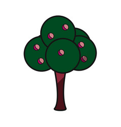 tree natural ecology vector image
