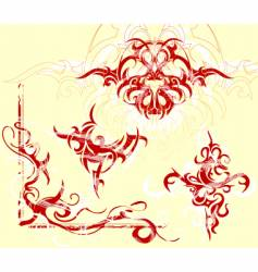 tribal tattoo designs vector image