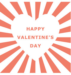 valentine day white heart shape space vector image
