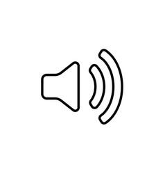 volume high line icon design black vector image