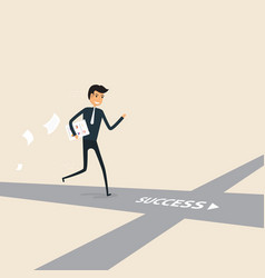 way of successconcept for successbusinessman vector image