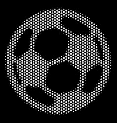 White dotted football ball icon vector