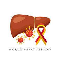 World hepatitis day liver and viral hepatitis vector