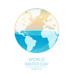 world water vector image