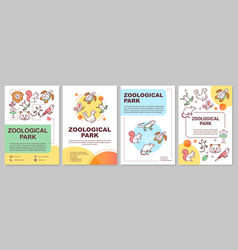 zoological park brochure template layout zoo vector image