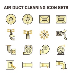 Air cleaning icon vector